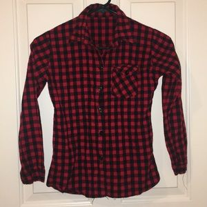 Other - Vintage black and red plaid shirt